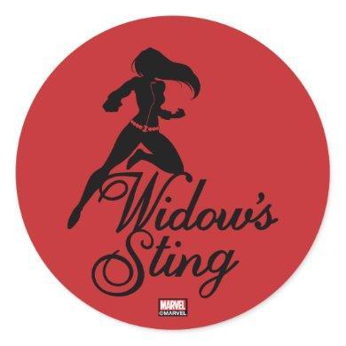 "Avengers Classics | Black Widow ""Widow's Sting"" Classic Round Sticker"