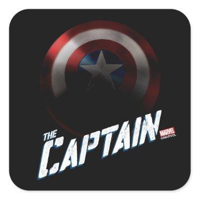Avengers Classics | Captain America Bold Graphic Square Sticker