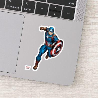 Avengers Classics | Captain America Runs Forward Sticker