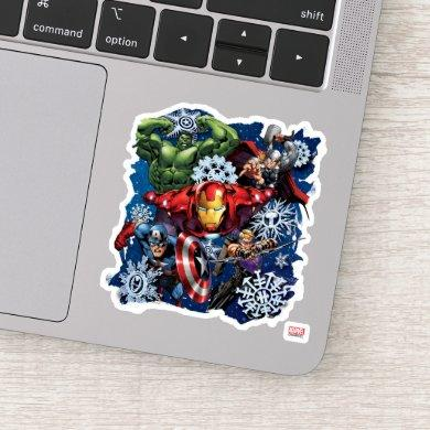Avengers Classics | Holiday Snowflake Graphic Sticker