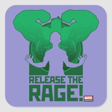 "Avengers Classics | Hulk ""Release The Rage"" Square Sticker"