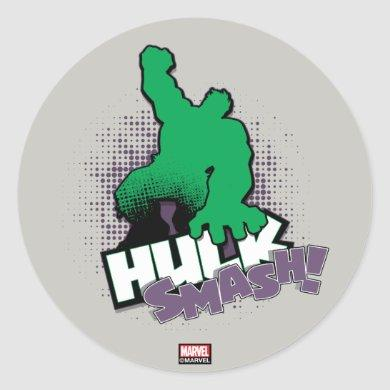 Avengers Classics | Hulk Smash Outline Graphic Classic Round Sticker