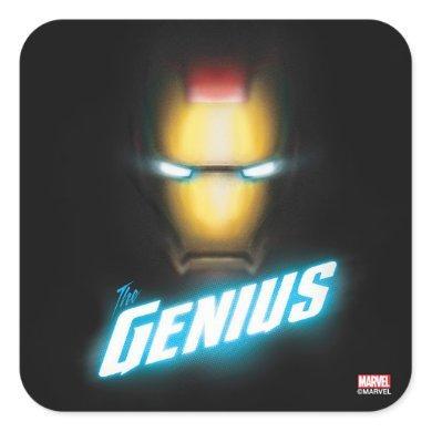Avengers Classics | Iron Man Bold Graphic Square Sticker