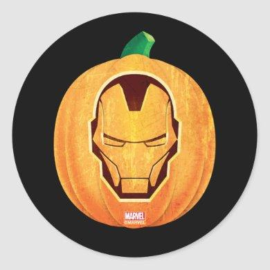 Avengers Classics | Iron Man Jack-o'-lantern Classic Round Sticker