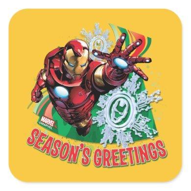 Avengers Classics | Iron Man Season's Greetings Square Sticker