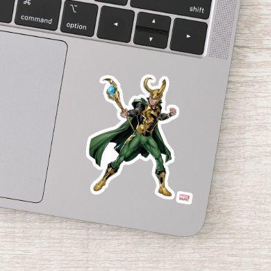 Avengers Classics | Loki With Staff Sticker
