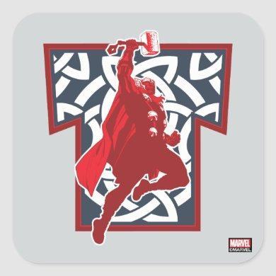 Avengers Classics | Norse Thor Graphic Square Sticker