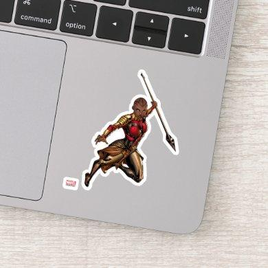 Avengers Classics | Okoye Leaping With Spear 2 Sticker