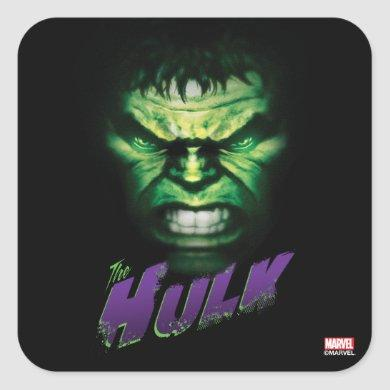 Avengers Classics | The Hulk Bold Graphic Square Sticker