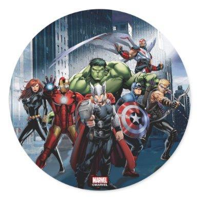 Avengers Classics | Thor Leading Avengers Classic Round Sticker