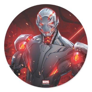 Avengers Classics | Ultron Destruction Mode Classic Round Sticker