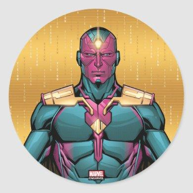 Avengers Classics | Vision Levitating Classic Round Sticker