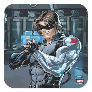 Avengers Classics | Winter Soldier Holding Fist Square Sticker