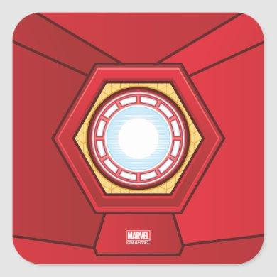 Avengers   Iron Man Glowing ARC Reactor Square Sticker