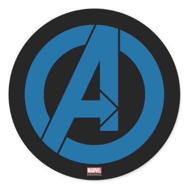 Avengers Logo Classic Round Sticker