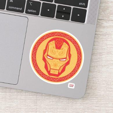 Avengers | Paisley Iron Man Logo Sticker