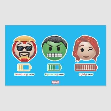 Avengers Power Emoji Rectangular Sticker