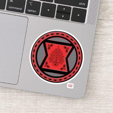 Avengers | Red & Black Paisley Black Widow Logo Sticker
