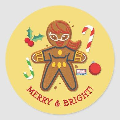 Avengers Seasonal | Black Widow Cookie Classic Round Sticker
