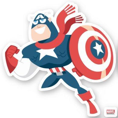 Avengers Seasonal | Captain America Sticker