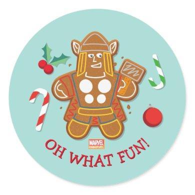 Avengers Seasonal | Thor Cookie Classic Round Sticker
