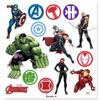 Avengers Sticker Sheet
