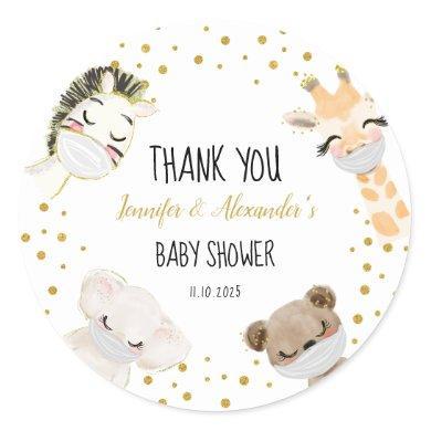 Baby Shower Classic Round Sticker