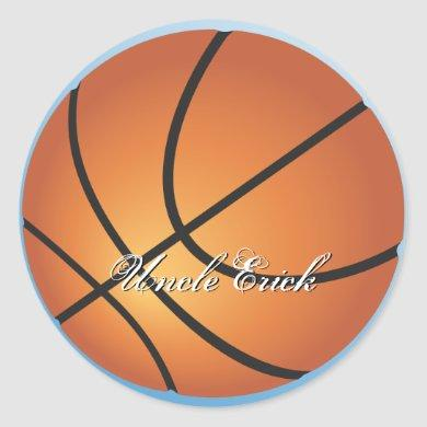 Basketball Image Incredible Budget Special Classic Round Sticker