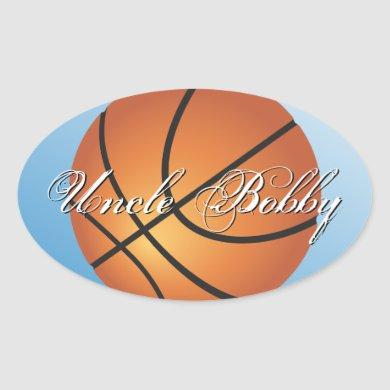Basketball Image Incredible Budget Special Oval Sticker