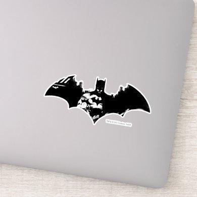 Batman and Gotham Silhouette Bat Logo Sticker