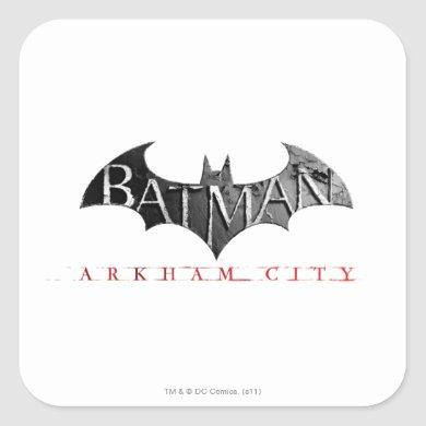 Batman Arkham City Logo Square Sticker