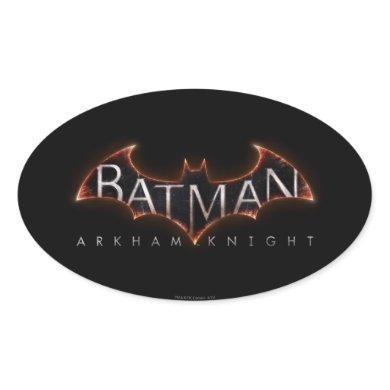 Batman Arkham Knight Logo Oval Sticker