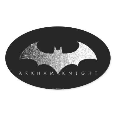 Batman Arkham Knight Pixel Logo Oval Sticker