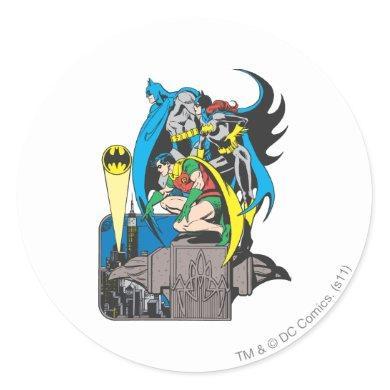 Batman/Batgirl/Robin Classic Round Sticker