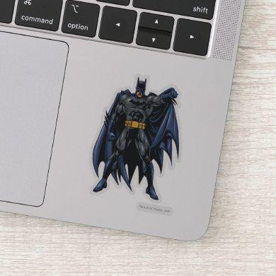 Batman holds up cape sticker