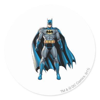 Batman Stands Up Classic Round Sticker