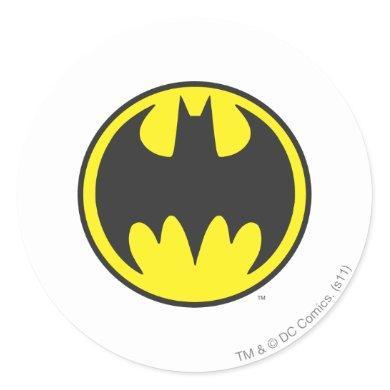 Batman Symbol | Bat Circle Logo Classic Round Sticker