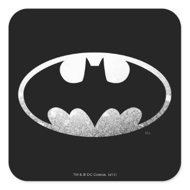 Batman Symbol | Grainy Logo Square Sticker
