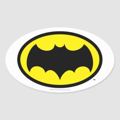 Batman Symbol Oval Sticker
