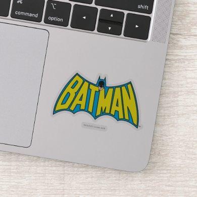 Batman | Vintage Yellow Blue Logo Sticker