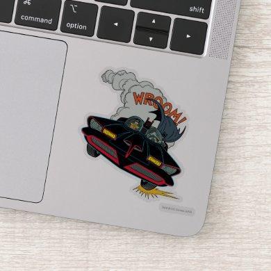 Batmobile Wroom! Sticker