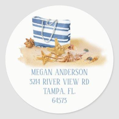 Beach Sea Shell Address Label