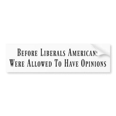 Before Liberals Bumper Sticker