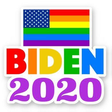 Biden 2020 Rainbow Gay Pride Sticker