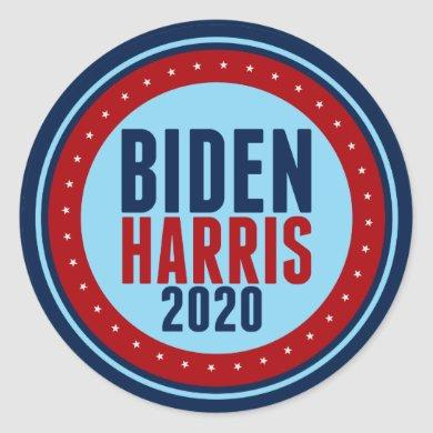 Biden Harris 2020 Election Classic Round Sticker