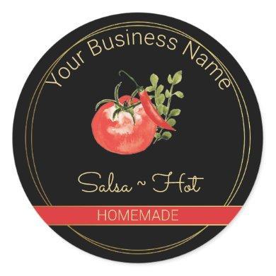 Black & Gold Hot Salsa Product Label