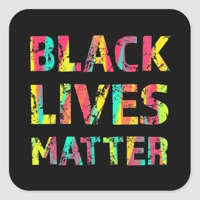 Black Lives Matter Painting 01 Uprising Colorful Square Sticker