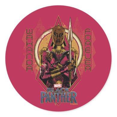"Black Panther | Okoye ""Wakanda Forever"" Classic Round Sticker"