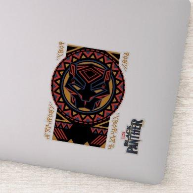 Black Panther | Panther Head Tribal Pattern Sticker