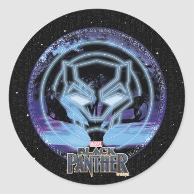 Black Panther | Panther Symbol & Wawa Tree Classic Round Sticker